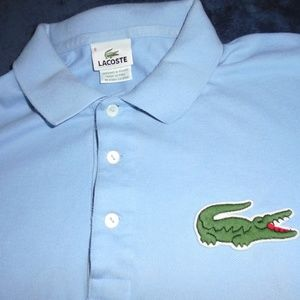 Lacoste Classic Polo Shirt Mens Size 8 Large  BLUE